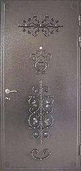 Металические двери с ковкой